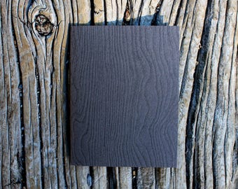 Woodgrain Faux Bois Brown Letterpress Greeting Card - A2