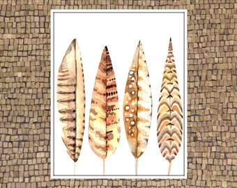 Feather Picture, Feather Printable, Feather Wall Décor, Feather Wall Art, Wall Art Feathers, Feathers Pictures, Bohemian Wall Décor, Cool