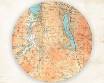 Antique Map, Thirlmere Map plate