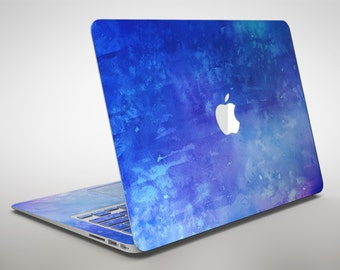 Blue 275 Absorbed Watercolor Texture - Apple MacBook Air or Pro Skin Decal Kit (All Versions Available)
