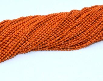 Ball chain 1.5 mm orange color