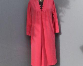 Vintage Robe, Vassarette, Velour Robe, Pink Robe, Petite, Bath Robe, House Robe, Loungewear, NOS, DEADSTOCK