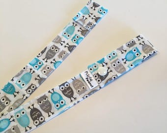 Toy Strap, Sophie Strap, Toy Tether, Sippy Cup Strap, Toy Leash, Teething Toy Strap, Mini Owl Blue