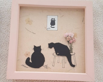 Pink Box Frame. - Cats will sit on Anything