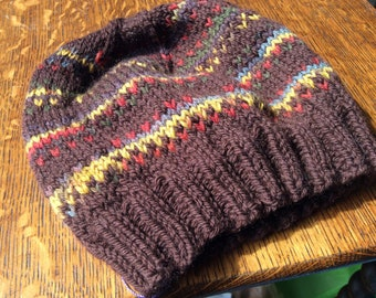 Hand Knit small child's hat