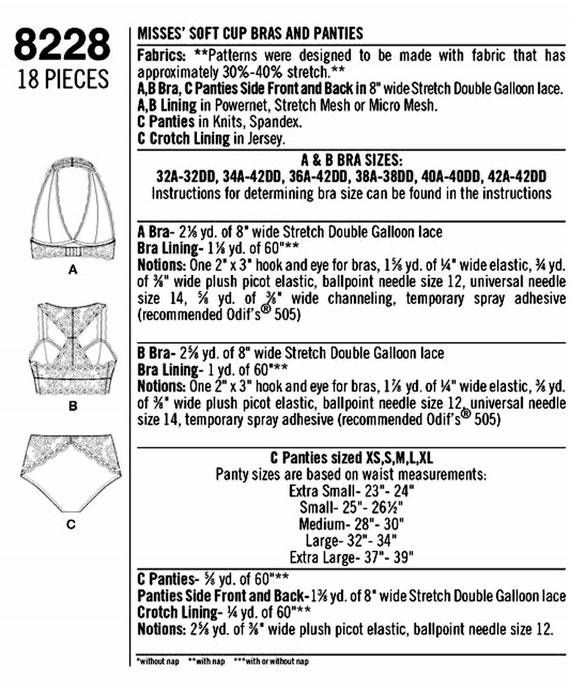 Sewing Pattern Halter Bra Pattern Soft Cup Bras Pattern