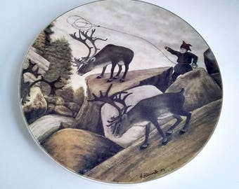 Made In Finland Arabia Large Lapland Plate/Charger Andreas Alarieston 83' Limited Ed