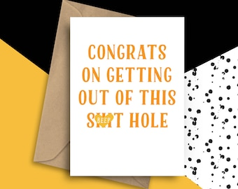 Funny Leaving Card, Leaving Job Card, Funny New Job Card, Funny Farewell Card, Funny Good Luck Card, Travelling Card, Funny Retirement Card
