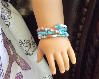 Seed Bead 4 Strand Bracelet for AG Dolls