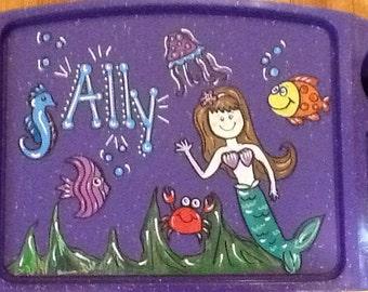 Mermaid activity tray, under the sea activity tray, girls lap tray, mermaid lap tray, sea world lap tray, girls activity tray, girls tv tray