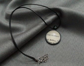 J.R.R Tolkien Hobbit Bilbo Cabochon necklace From  The Hobbit book pages N2