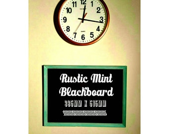 Framed Blackboard - Rustic Mint