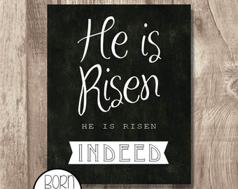 He is risen He is risen indeed Printable