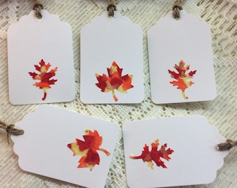 Leaf Gift Tags, Thanksgiving Gift Tags, Fall Gift Tags, Autumn Gift Tags, Fall Party, Harvest Party, Autumn Party, Fall Wedding, Autumn Gift