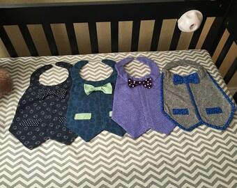Best dressed infant boy bibs