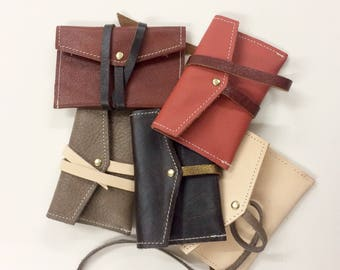 Genuine leather cardholder. Different colors. Soft in touch