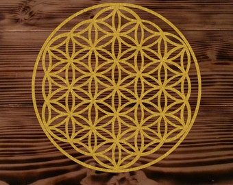 "Flower of life die-cut decal sticker medium (4.25""x4.25"")"