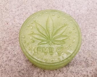 Hemp Soap, Handmade, melt and pour, hemp soap base, unisex, hemp oil soap, hippy soap, hemp fragrance, Pot Leaf, Moisturizing