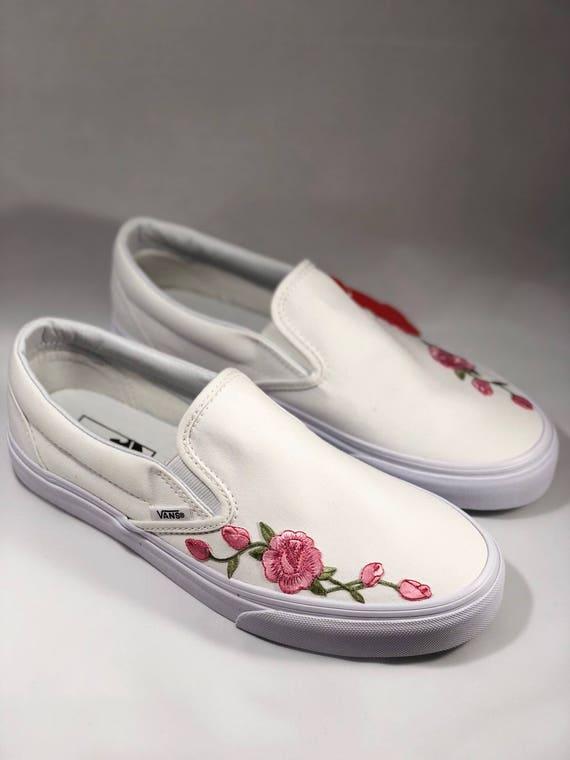 vans white slip on