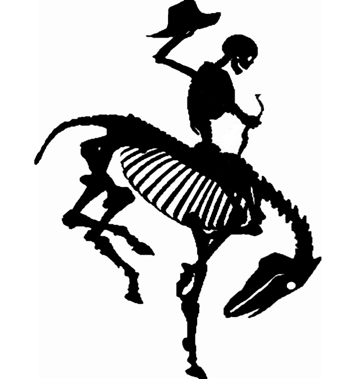 Wyoming dead cowboy state bucking horse western cowboys for Cowboy silhouette tattoo
