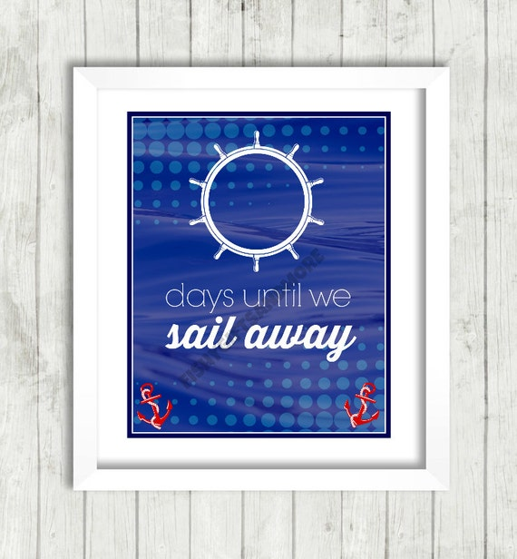 days until cruise countdown printable carnival disney