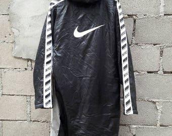 Nike Light Jacket Long Parka Side Tape sweater windbreaker hoodie
