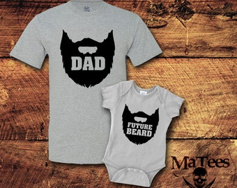 Baby Beard, Dad and Baby Matching Shirts, Father Son Matching shirts, Daddy Daughter, Father Daughter Shirts, Dad Son, Matching Outfit