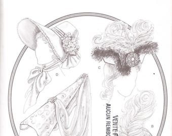 Butterick 3805 Misses' Historical Hats Sewing Pattern, one size