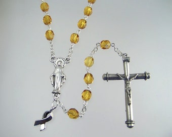 Appendix Cancer Awareness Amber Awareness Rosary