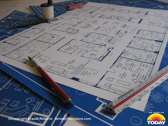Mad men tv show floor plan blueprint poster art for mad men tv show floor plan blueprint poster art for offices of sterling cooper draper pryce 37th floor featured on nbcs today show malvernweather Image collections