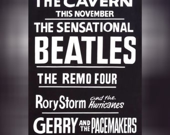 The Beatles Poster At The Cavern Club A4 Print Vintage Concert 1962