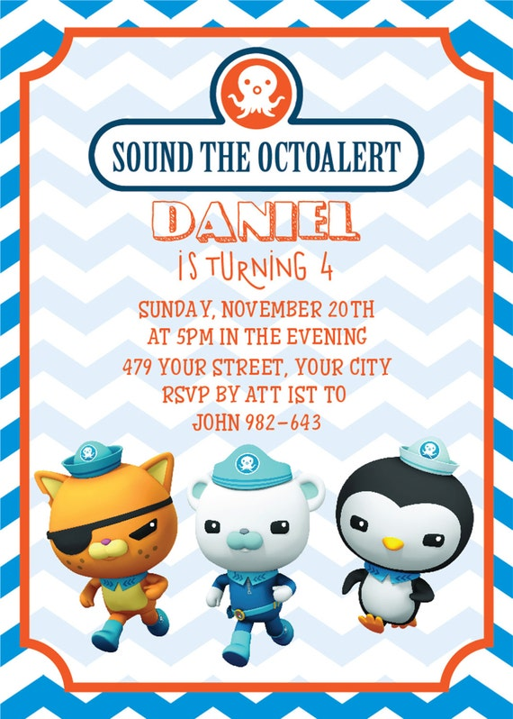 Octonauts Birthday octonauts invitation octonauts