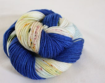 Spanish Tiles - Gosling - 80/10/10 superwash merino/ cashmere/ nylon sock yarn
