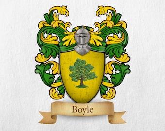 Boyle Family Crest - Print