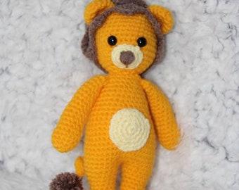 Crochet lion amigurumi plush toy handmade