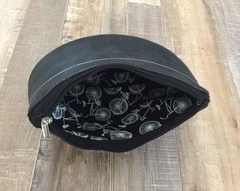 Recycled bike tube toiletry bag (Dopp kit)