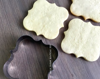 Cookie Cutter | Fondant Cutter | Plaque Cutter |NO RUST CUTTERS| Dishwasher safe|  French Poppy Plaque Cookie Cutter - A8