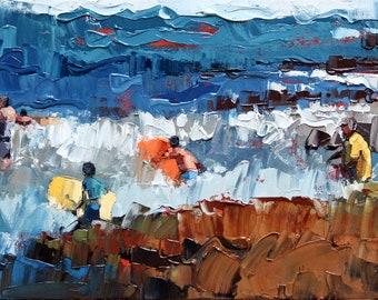 Seascape | Abstract Coastal Art | Beach Painting Print | Contemporary Art | Beach Decor | Seascape Art | Ocean Coastal Art