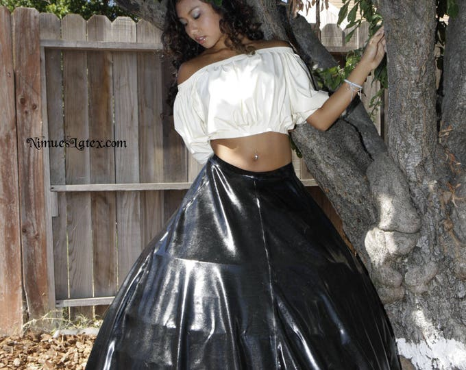 Featured listing image: Full Length Circle Skirt, big enough to wear with a hoop frame!