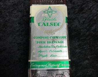 Embalming Fluids Bottle Esco Calsec 1933
