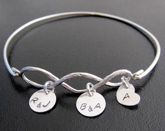 Mothers Day Gift for Grandmother, Nana, Gigi, Mimi, Grammy, 3 Generation Jewelry, Grandma Bracelet, Three Generation Bracelet