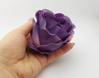 Artificial Roses, 3-5 Pieces, Silk Purple Rose, Purple Rose Head Set, Craft Supplies, Faux Flower, Real Looking Fake Roses, For Handiwork