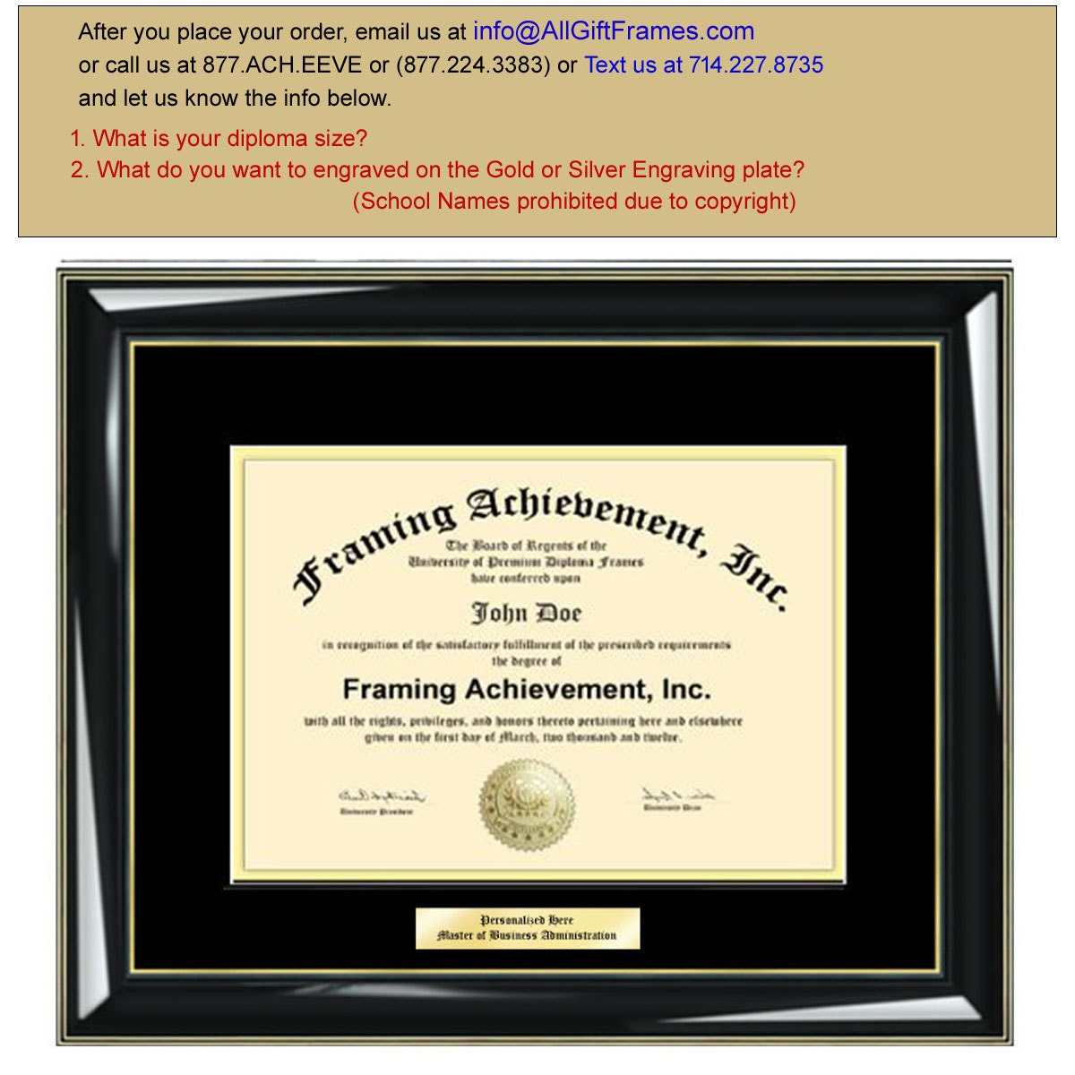 Famous Certificate Frame 8.5 X 5.5 Pattern - Picture Frame Ideas ...