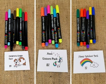 Fabric Marker Variety Packs of Colore Fabric Markers, Kids Crafts, Adult Coloring Supplies, Coloring Fabric Markers, DIY Gift, DIY kit