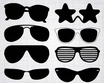 Sunglasses SVG Bundle, Sunglasses SVG, Sunglasses Clipart, Cut Files For Silhouette, Files for Cricut, Vector, Sun Glasses Svg, Png, Decal