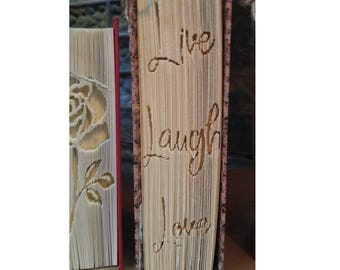 Folded Book Pattern for Live Laugh Love in Sathscha Font