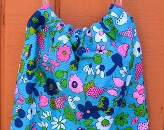 Vintage Floral Fabric Purse