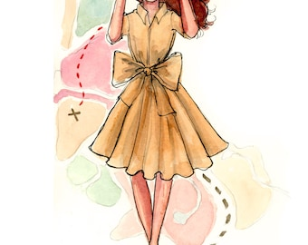 Fashion Illustration Art Print: Adventure Is Out There!