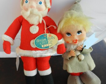 Vintage Dakin Santa & Choir Doll