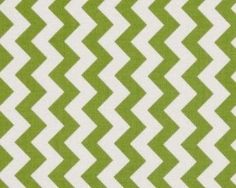 Mini patchwork chevron green 54cmx22 cm fabric coupon